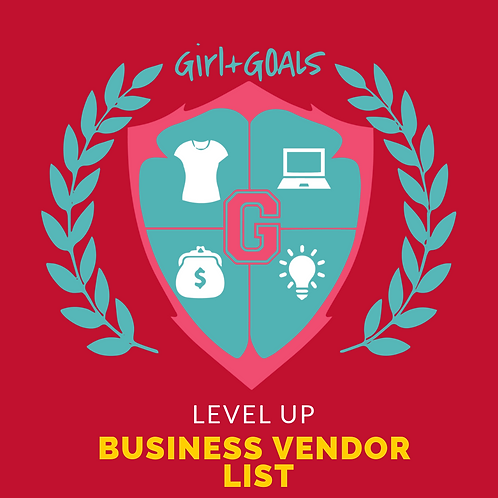 Level UP Business Vendor List