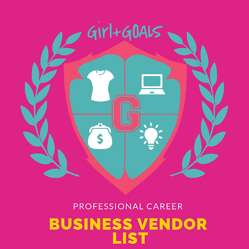Professional Career Business Vendor List
