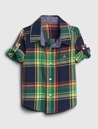 Baby Gap | Baby plaid convertible shirt