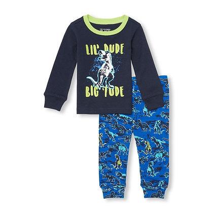 Children's Place   Dino snug fit pajamas