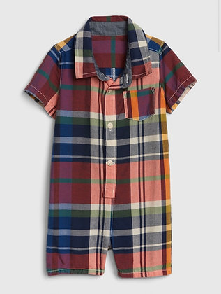 Baby Gap | Baby plaid shorty one-piece