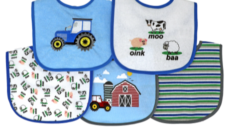 Tendertyme | 5 pc Bib set