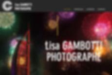 création du site internet de Lisa Gambotti Photographe