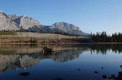 The nostalgic drive in to Canmore