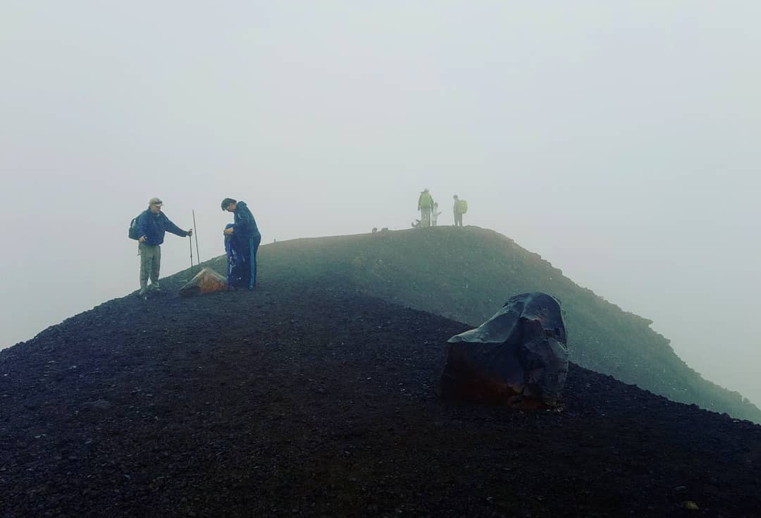The peak of the Tongariro Crossing