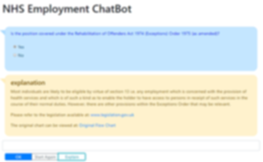 NHS Employment ChatBot with Explanation