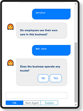 VisiRule Insurance Expert System AI Chat