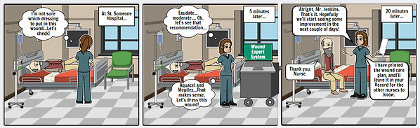 WoundCare Expert System StoryBoard 1