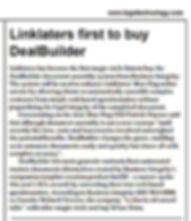 Linklaters buy DealBuilder licence