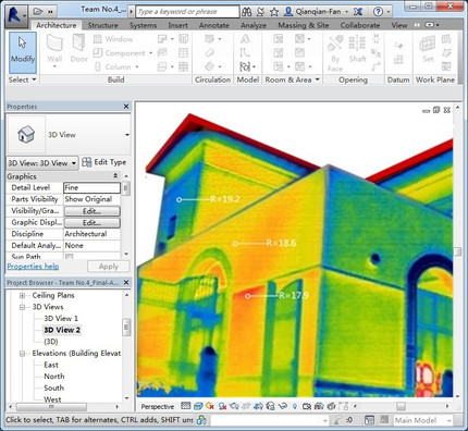 Visualizing Thermal Data in a Building Information Model