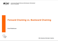 Forward Chaining vs Backward Chaining Slides