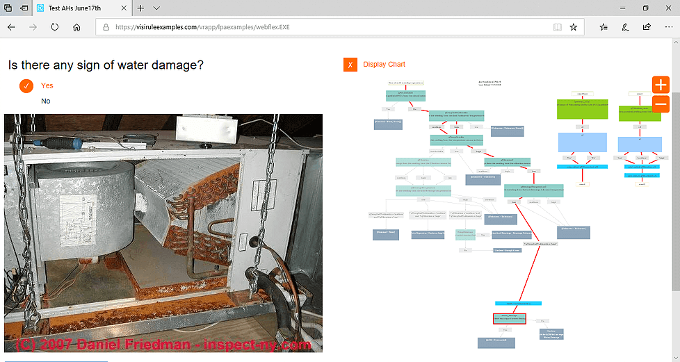 WaterDamage Fault finding Flow Chart Software Session
