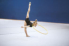 Gymnast with Hula Hoop