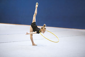 Gymnast with Hula Hoop