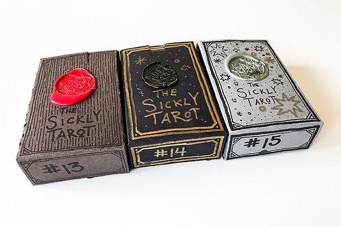 Hand cut Sickly Tarot Deck with individual tuck box