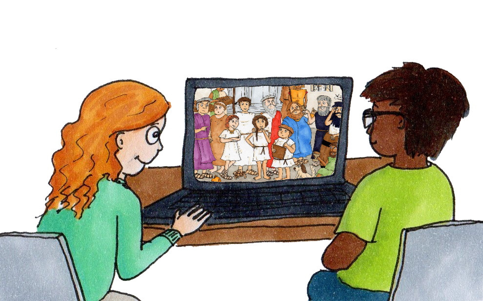 Children watching Delphi on YouTube