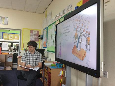Teacher reading Delphi