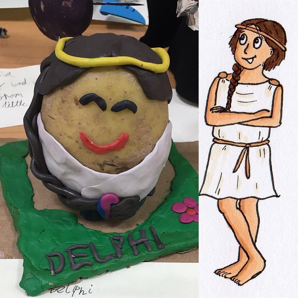 Delphi potato for world book day