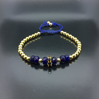 Black CZ Diamonds Disc and Lapis Lazuli