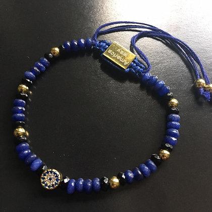 Omari Unissex CZ Diamond, Blue Lapis Lazuli