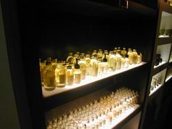 under lighted display