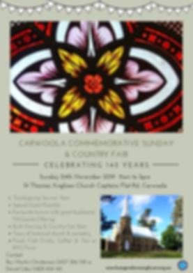 Carwoola Commemorative sunday & country
