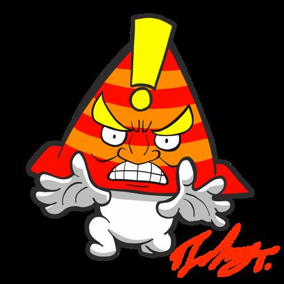 三角コーンの妖精(怒る)