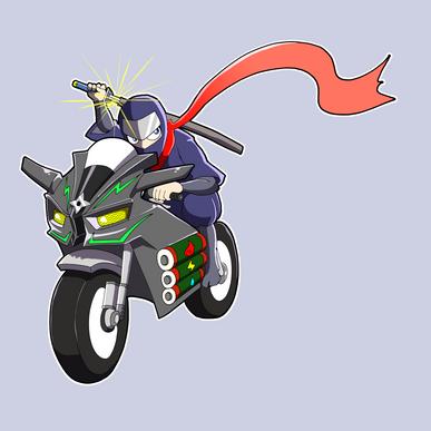 忍者バイカー(カラー)