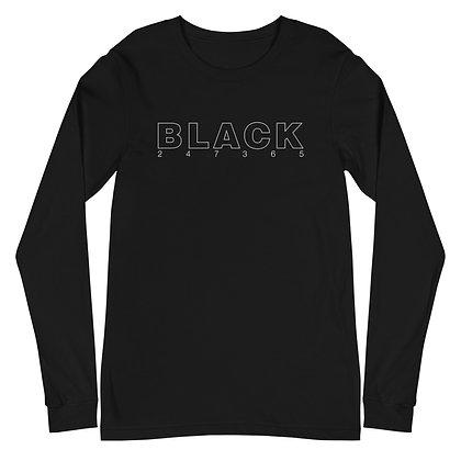BLACK 247365 Unisex Long Sleeve Tee