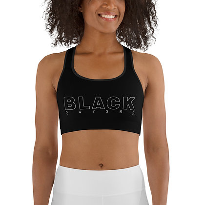BLACK 247365 Sports Bra