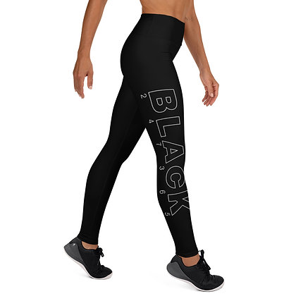 BLACK 247365 Yoga Leggings
