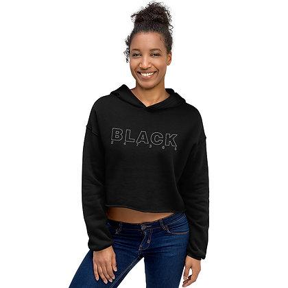 BLACK 247365 Crop Hoodie