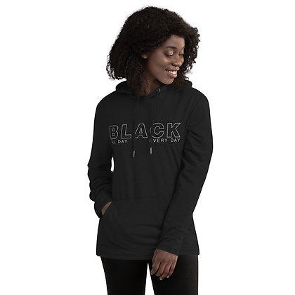 BLACK 247365 Unisex Lightweight Hoodie