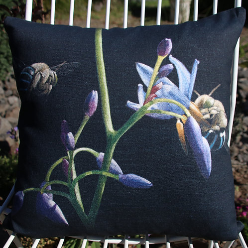 Blue banded bees - Square 40 x 40cm Cushion