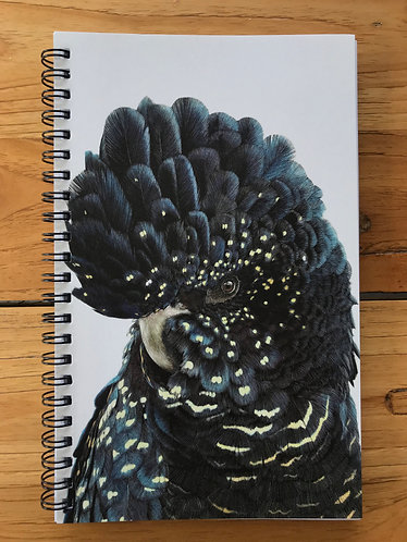 Black Cockatoo Lined Notebook