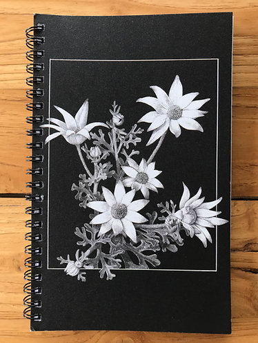 Flannel Flowers Lined Notebook