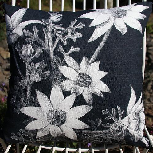 Flannel flowers - Square 40 x 40cm Cushion