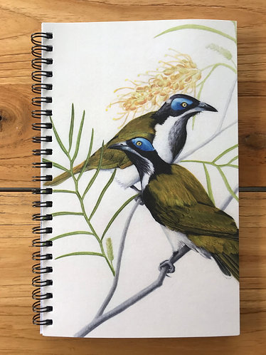 Blue-faced Honeyeater Lined Notebook