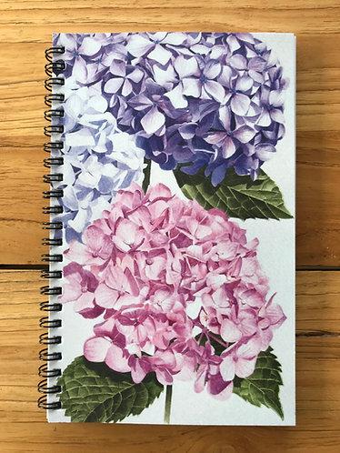 Hydrangeas Lined Notebook