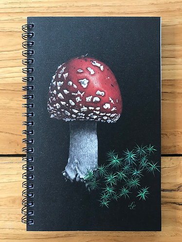 Toadstool/Puffin Lined Notebook