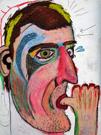 Self Portrait sucking finger