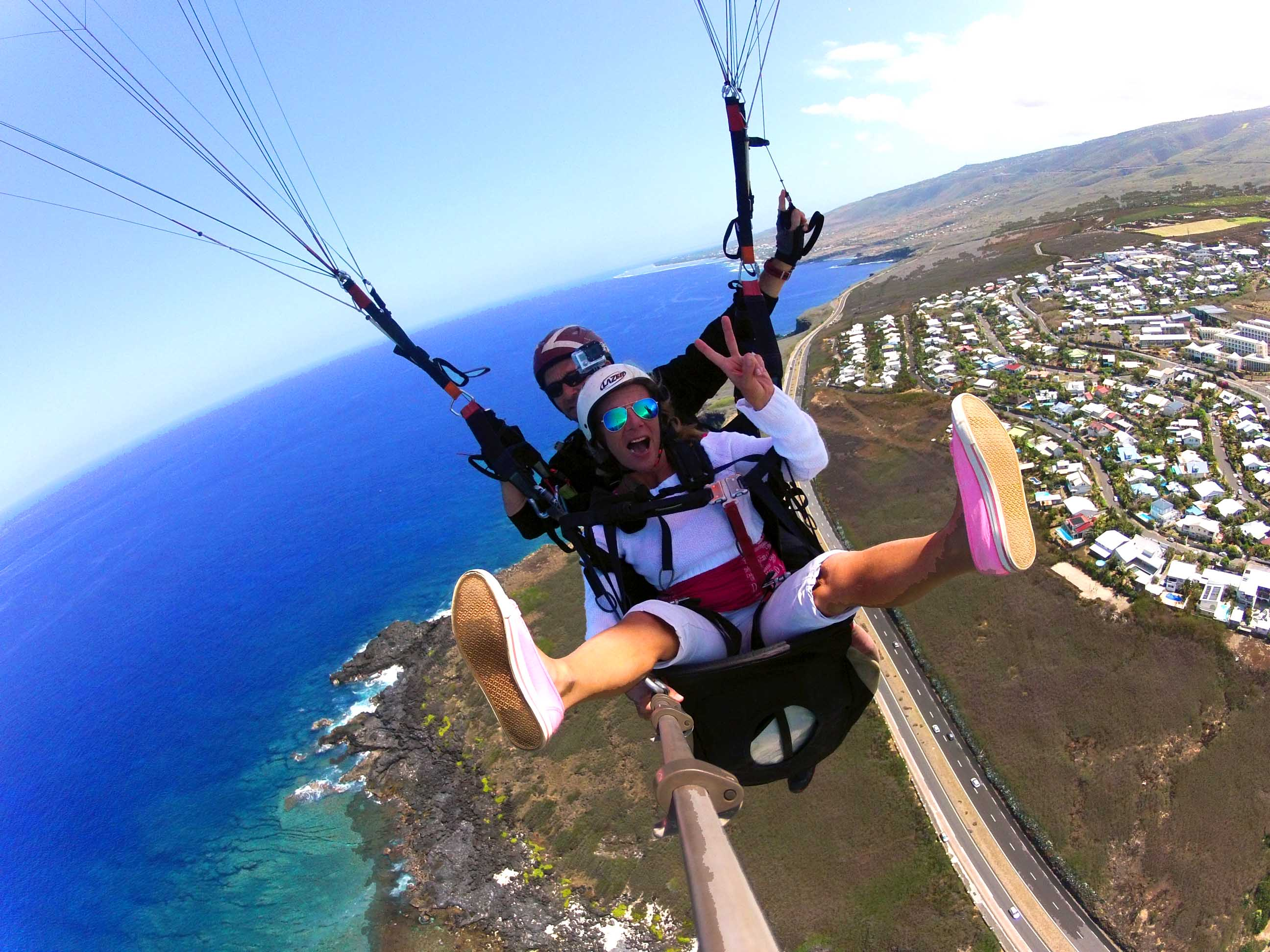Vol en parapente à la Réunion