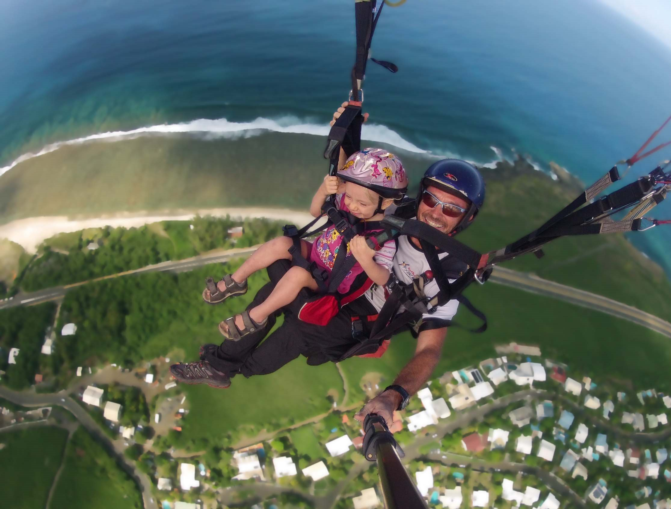 parapente a la reunion vol enfant