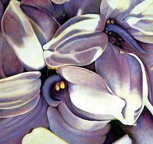 My Flowers, 210x210cm, oil on canvas