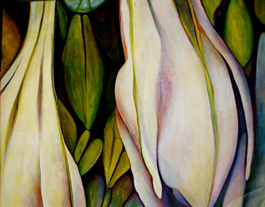 The Buds, comp. no.4, 135x198 cm, oil on canvas, 2010