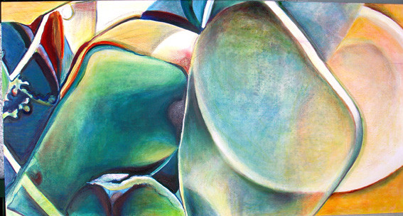 My Little Gems, comp. no.8, 100x200 cm,  oil on canvas, 2007