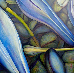 The Buds, comp. no.5, 190x193 cm, oil on canvas, 2010