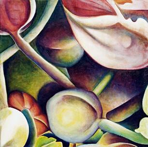 Wild Anenomes, comp. no. 3, 140x140cm, oil on canvas, 2003