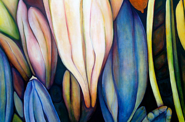 The Buds, comp. no. 2, 140x210 cm, oil on canvas, 2010