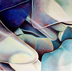 My Little Gems, comp. no.4, 145x145 cm,  oil on canvas, 2008